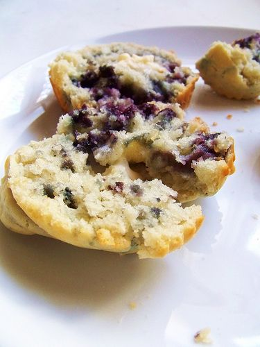 Rice Flour Blueberry Muffins (sub sugar for honey or maple syrup)