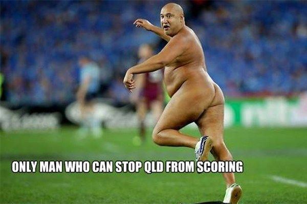 PHOTOS: Best of State of Origin 3 streaker Wati Holmwood internet memes - Photo Stream - Home - RadioLIVE