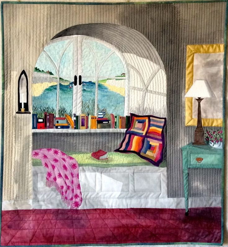 """""""The Window Seat"""" by Stephanie Crawford (UK). Textile artist."""