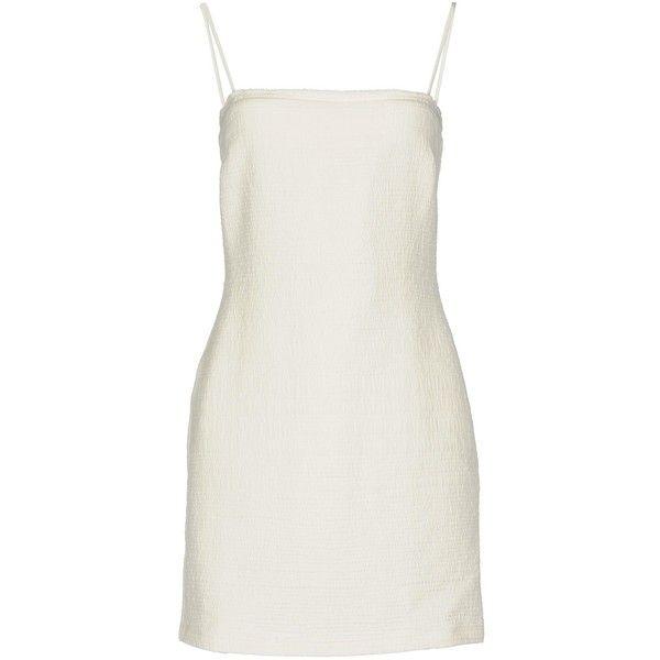 Bec & Bridge Short Dress ($180) ❤ liked on Polyvore featuring dresses, white, white jacquard dress, zip dress, jacquard mini dress, mini dress and white dresses