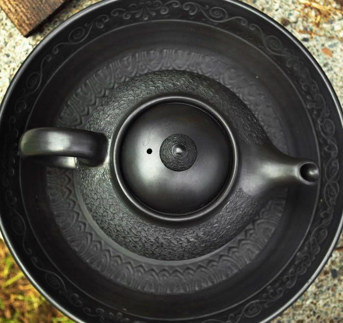 Teapot Khalif   Pottery teapot   Ceramic teapot   Black ceramic tepot   Stoneware teapot   Polished pottery   Tea ceremony   Black drinkware by ArtPotteryBaiTerek on Etsy