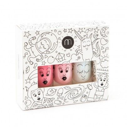 Pack 3 vernis Cosmos roses  Nailmatic