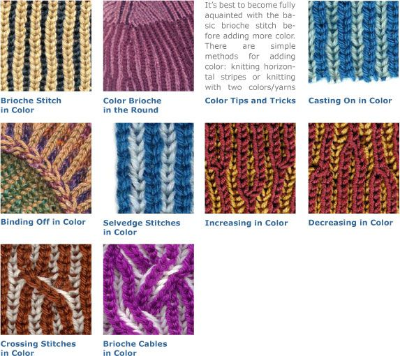 Knitting Adding Stitches : Brioche Tutorials - Adding Color knit one purl two Pinterest Awesome, I...