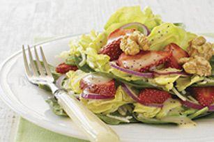 Salade étagée aux fraises