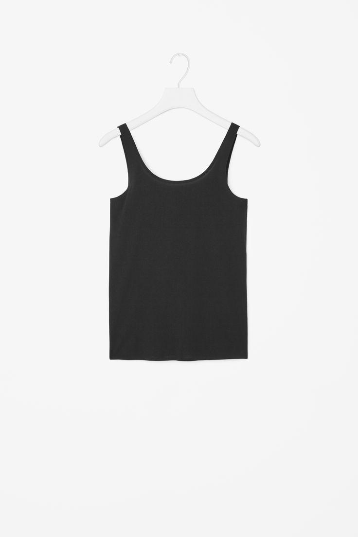 Clean-edge vest top