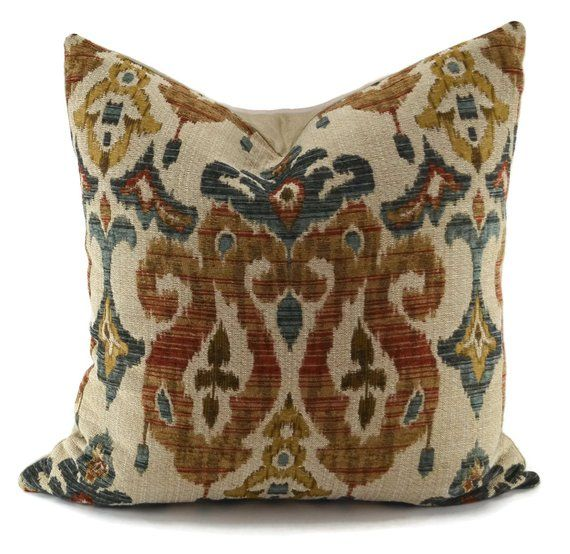 This Spectacular Chenille Ikat Throw Pillow Cover Features