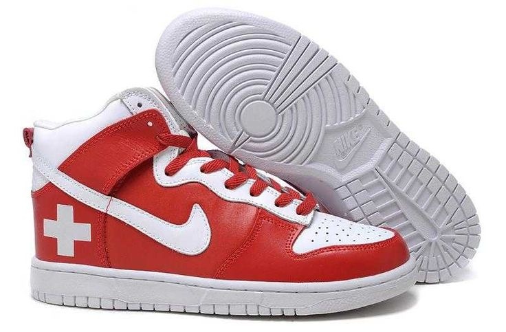 https://www.sportskorbilligt.se/  1767 : Nike Dunk High Dam Herr Röd Vit SE916905jVAEcPCR