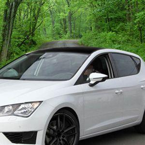 Seat Cupra schwarz matt Autodach folieren mit mibenco Flüssiggummi Sprühfolie