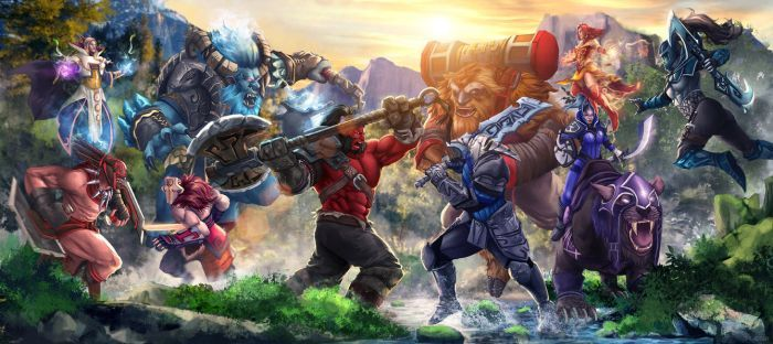 Dota 2 Clash of Heroes by AgusSW