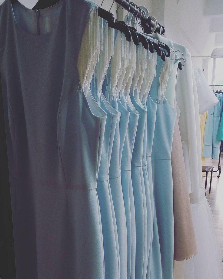 Our favorite color of this summer #bluepastel #dress #showroom #colorpalette #maisonraquette