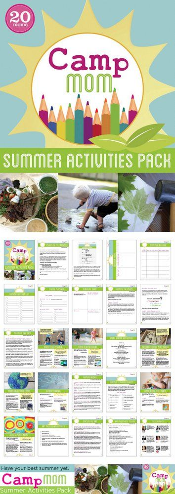 Camp Mom: Summer Activities e-Pack - make summer more fun and easier to plan.
