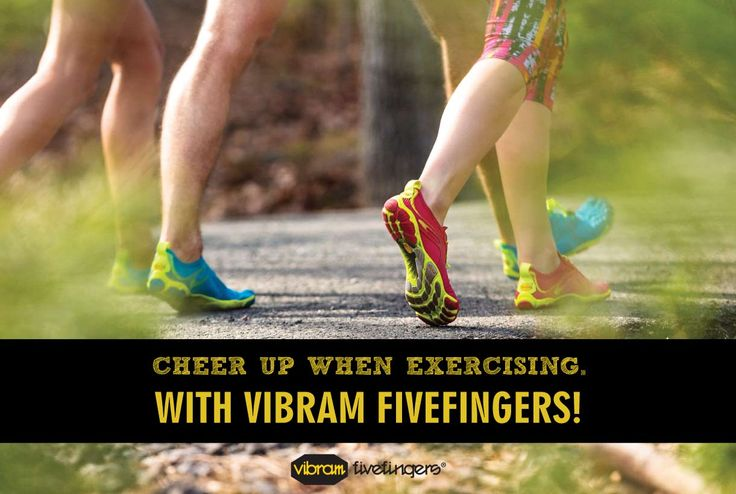 Cheer up when exercising with Vibram FiveFingers