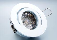 LED Einbaustrahler Set mit Marken GU10 LED Spot Bioledex Helso 3 Watt COB Alu-Druckguß Rund Weiß Klickverschluß  Wohnzimmer - Beleuchtung - Licht