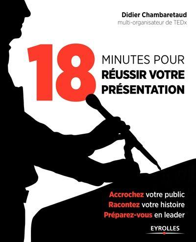 18 minutes pour réussir votre présentation. Inspiré de l'expérience et du format des conférences TED, conférences internationales visant à propager des idées sur des sujets variés, un entraînement à la prise de parole en entreprise illustré de cas et d'exercices. Des QR codes renvoient à des vidéos des conférences TED.