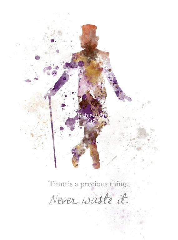 Ilustración de Willy Wonka cotización lámina, película, Charlie y la fábrica de Chocolate, arte de la pared, decoración del hogar