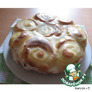 """Пирог """"Творожные розы"""""""