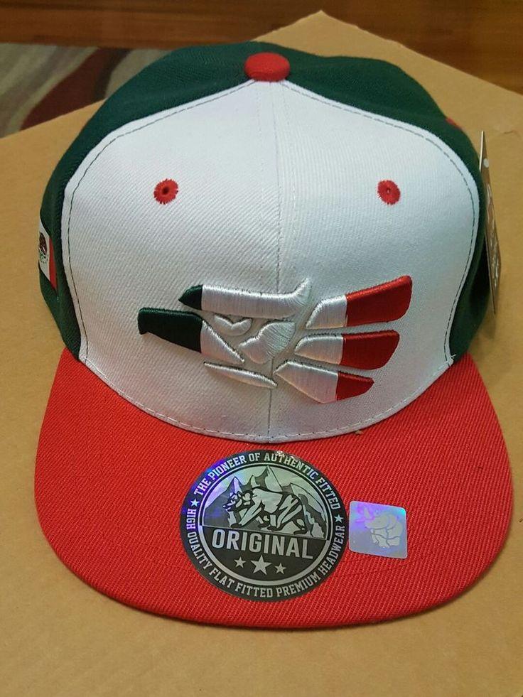 Red White Green Eagle Head MEXICO Flag Adjustable Cap Hat NEW Original with Tag #Original #BaseballCap