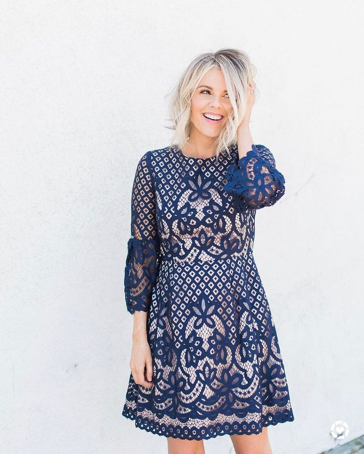 """9,713 Likes, 105 Comments - Ali Fedotowsky-Manno (@alifedotowsky) on Instagram: """"Navy lace  Simply in love with this dress!  Annnnnd pretty much everything at @Nordstrom …"""""""