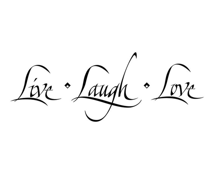 Live Laugh Love Wall Decal Quote Sticker  WW1037 by Decals4MyWalls, $9.95