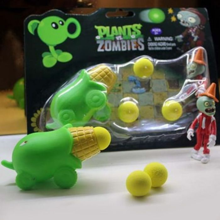 Peashooter PVZ Shooter Kernel-pult Educational Toy Safe Game Plant + Zombie + 3 Ball Set-3.31 and Free Shipping