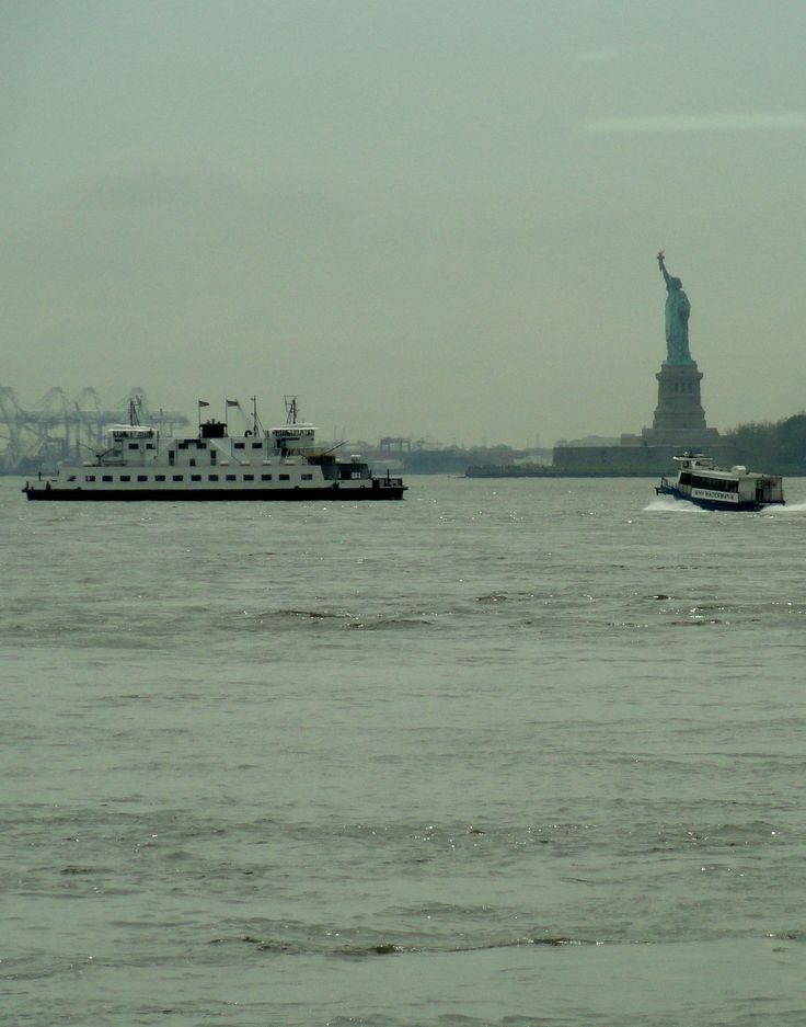 View of Statue of Liberty from The River Cafe - Brooklyn