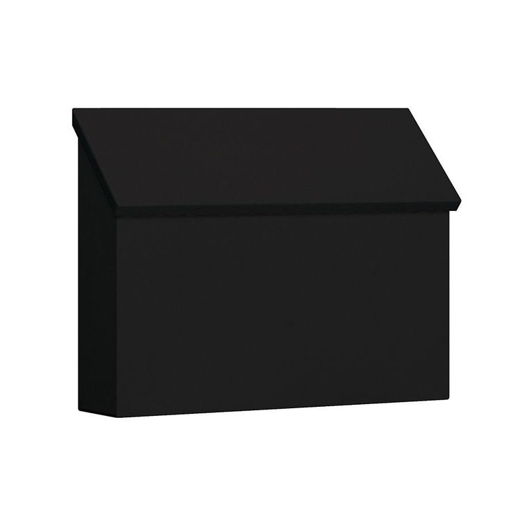 Salsbury Industries 4600 Series Black Standard Horizontal Traditional Mailbox-4610BLK - The Home Depot