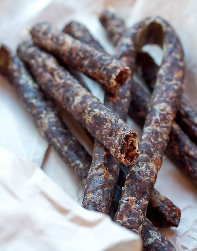 The ultimate South African snack: Droewors.