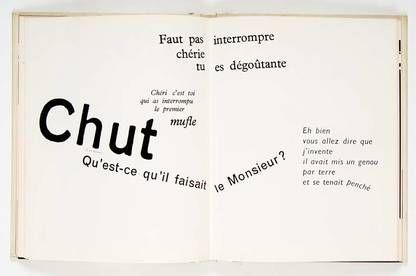 La Cantatrice chauve, Ionesco mis en page/image par Massin