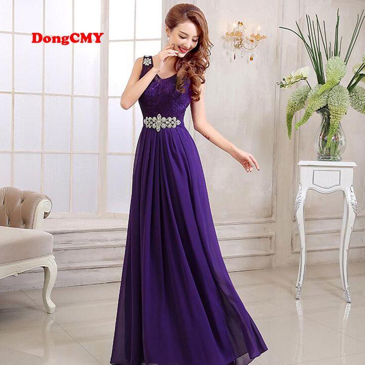 2017 New Fashion Long Design Purple Party Lace and Chiffon vestidos de festa Plus Size bridesmaid dresses