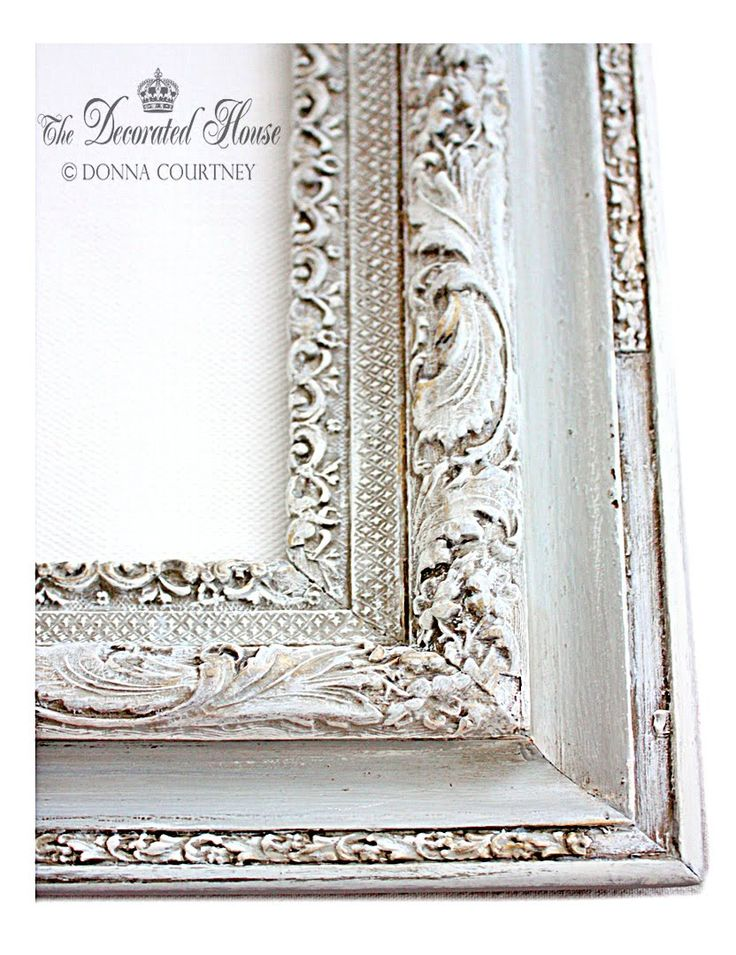 The Decorated House: ~ frames. Paris Grey Chalk, Umber acrylic glaze (old white chalk highlights) & waxes: clear, dark & gold