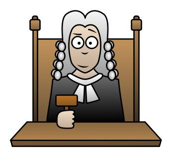 cartoon picture of a judge i court when he holds someone gulity - Google Search