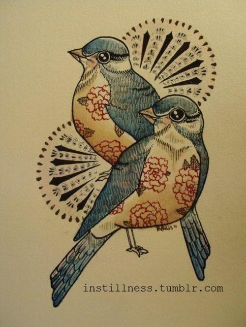 two beautiful birds #tattoo