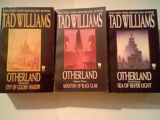 Otherland Book lot by Tad Williams,Vol. 1,3,4,City of Golden Shadow,Silver Light