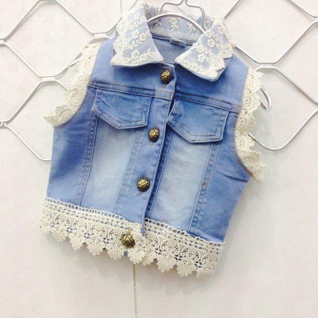 vestidos de jeans para niña 2015 - Buscar con Google                                                                                                                                                                                 Más
