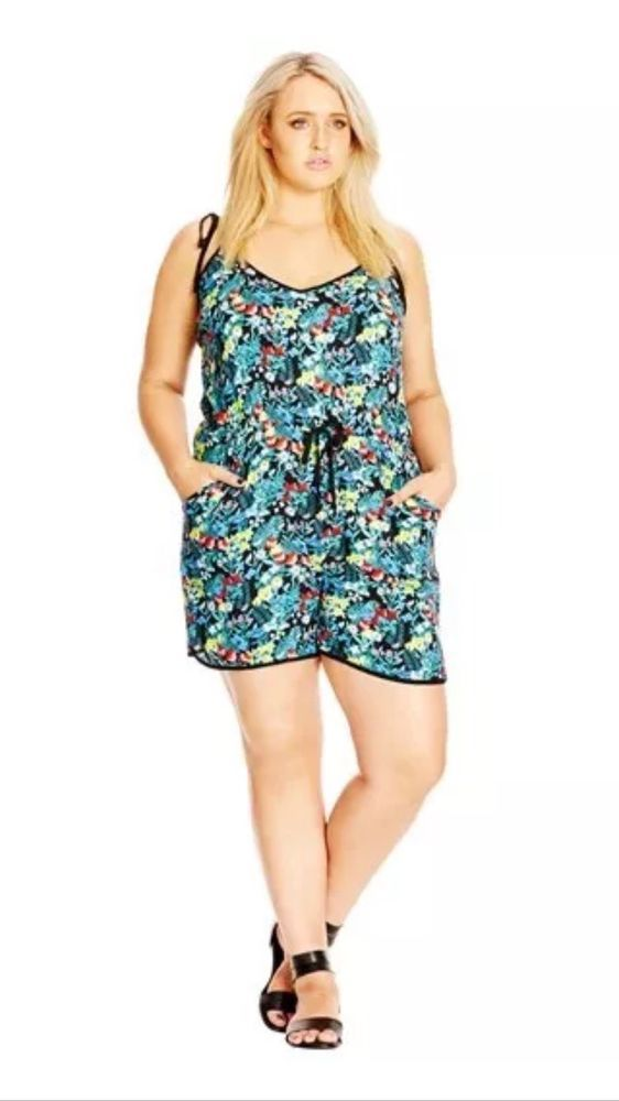 City Chic Summer Fun Playsuit Size M (18-20)