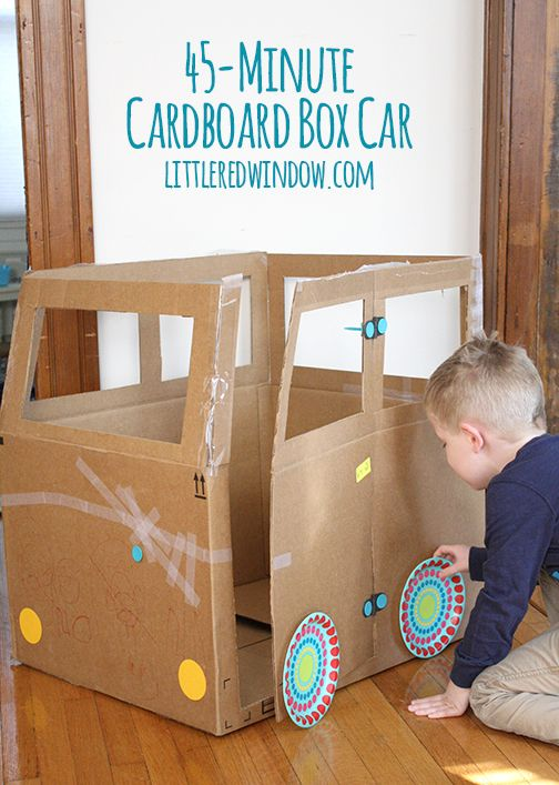143 best transportation theme images on pinterest crafts for Cardboard activities for toddlers