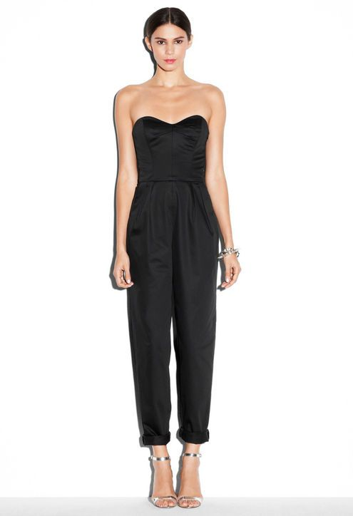 41 best black jumpsuit style images on pinterest black for How to dress up a black dress for a wedding