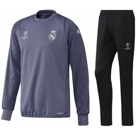 Survetement Real Madrid Ligue Des Champions 2016/2017 Officiel. Flocages Personnalisés Disponibles.