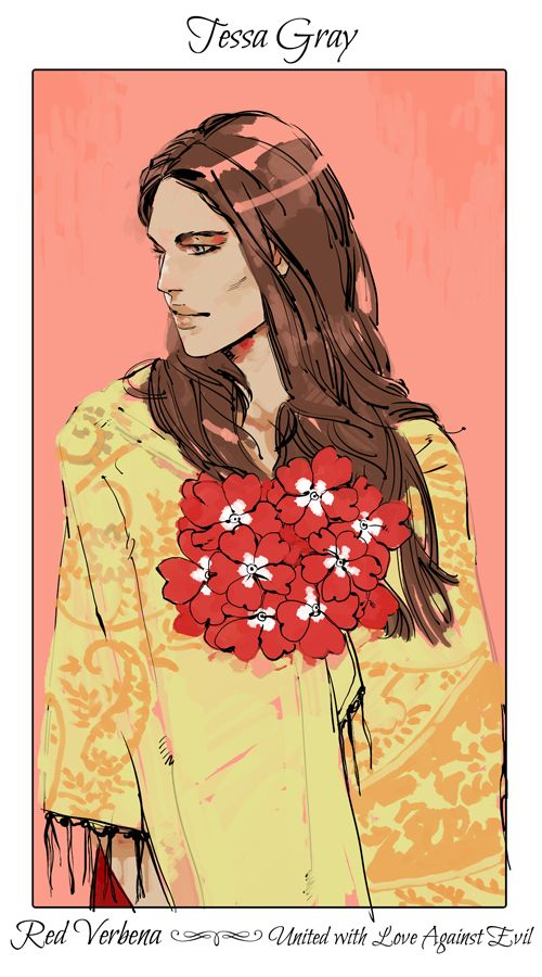 Tessa Gray°-- Red Verbena (United with Love against Evil)