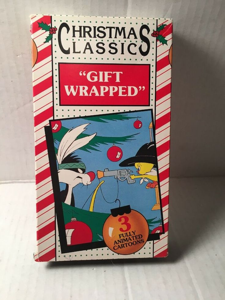 Looney Tunes CHRISTMAS CLASSIC VCR TAPES VHS GIFT WRAPPED