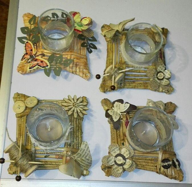 Ende letzten Jahres habe ich noch einige Teelichthalter aus Papierröllchen gemacht.       Hier ist das Ausgangsmaterial     Die ersten Roh...