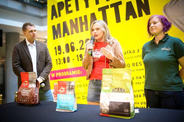 """Podczas ,,Apetytu na Manhattan"""" nie zabrakło również  kwestii dotyczących naszych milusińskich :) Jak dobrać zdrową i pożywną karmę? O tym dowiedzieli się uczestnicy eventu :)"""