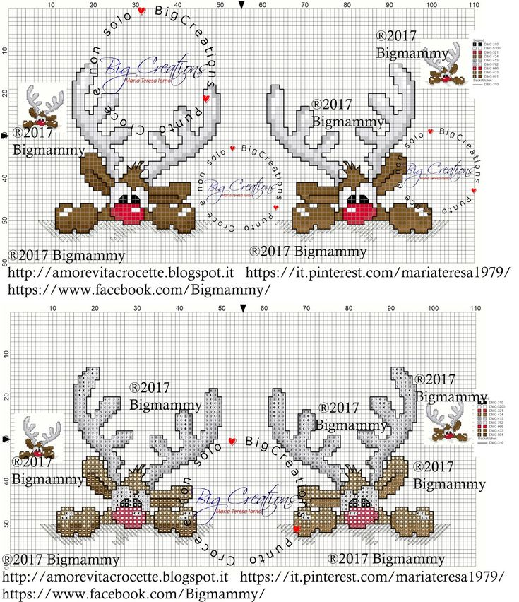 una renna colpevole... uno schema adatto ad un bavaglino, ad una pallina per il nostro albero di Natale, ad un simpatico biglietto e per ...