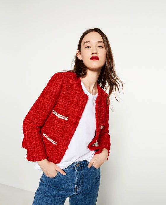 Image 2 of DETAILED CARDIGAN from Zara