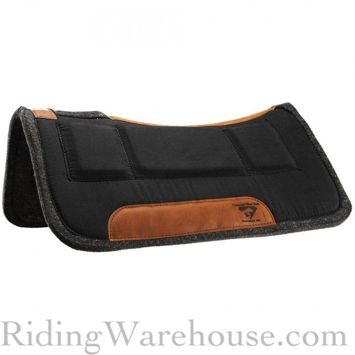 Diamond Wool Contoured Western Saddle Pad w/Shims 30x30