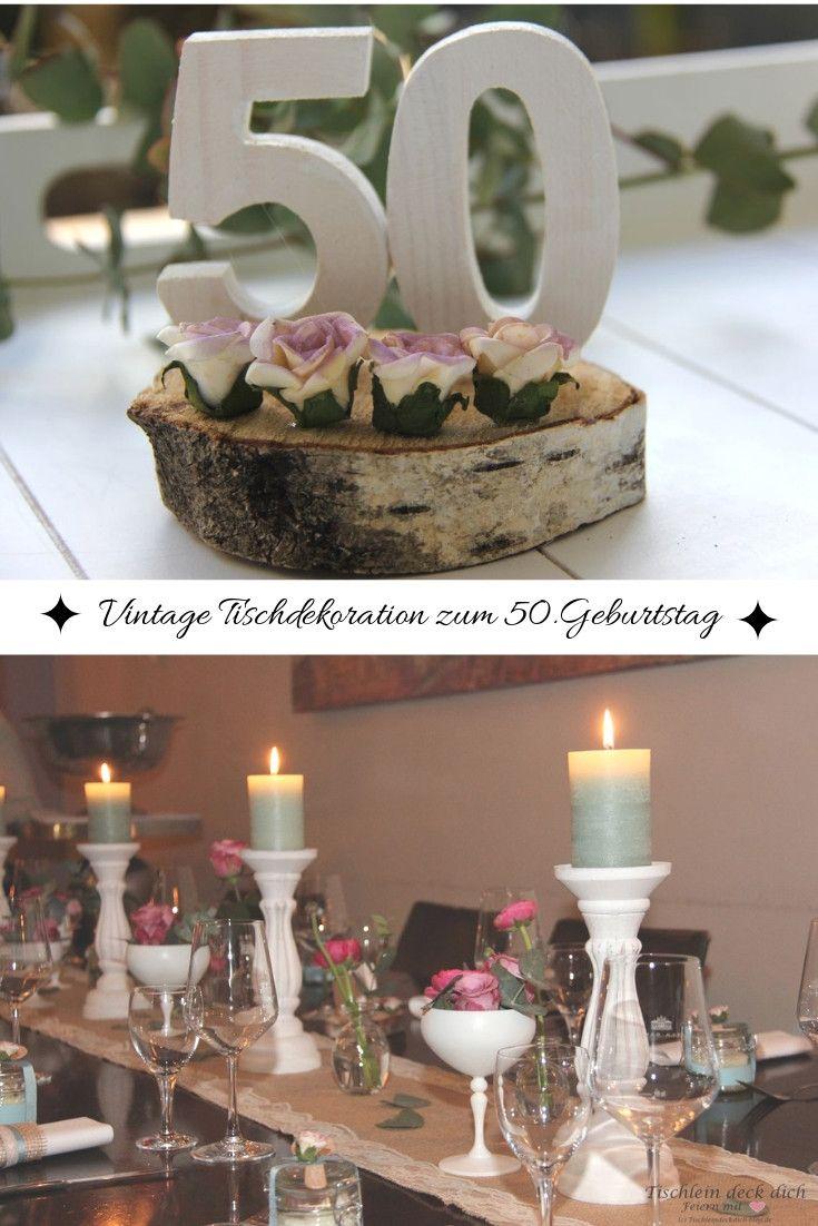 Vintage Tischdekoration Zum 50 Geburtstag Geburtstag Dekoration
