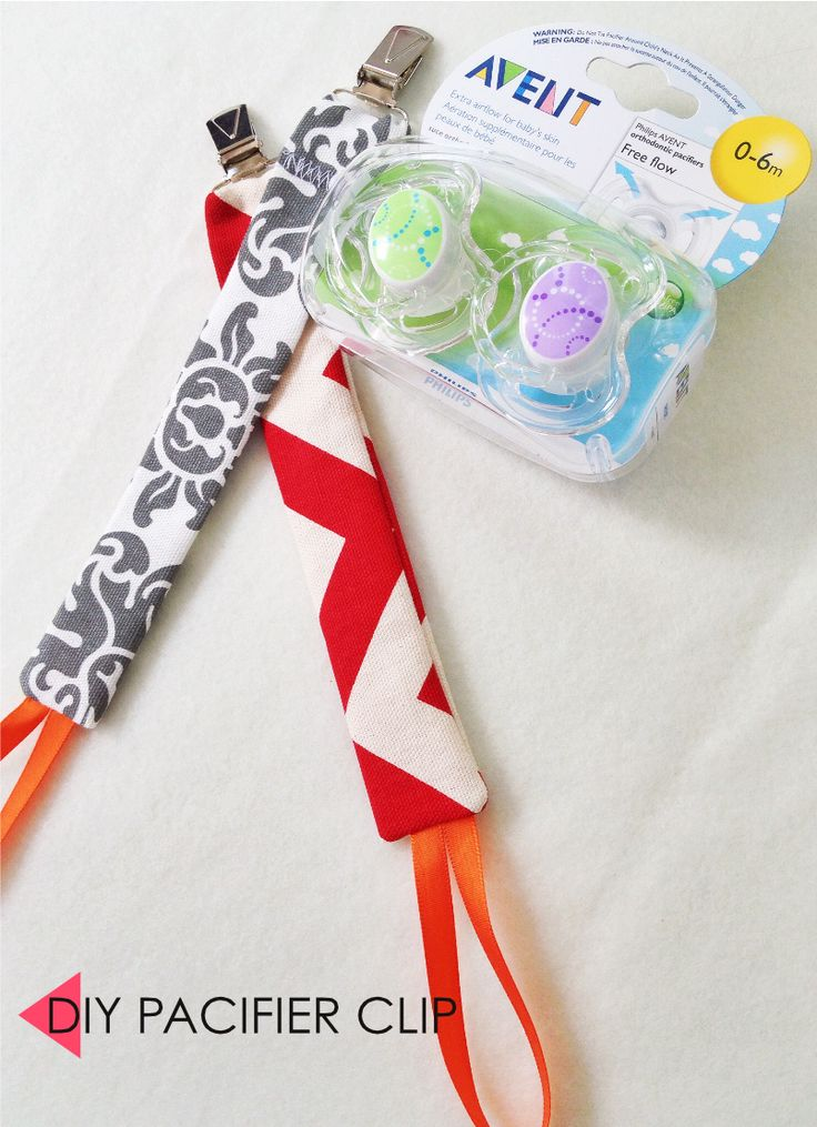 Easy DIY baby gifts - The Em Dash. My baby shower present included five DIY baby gifts, which included these pacifier clips. Post includes pics and tutorials.