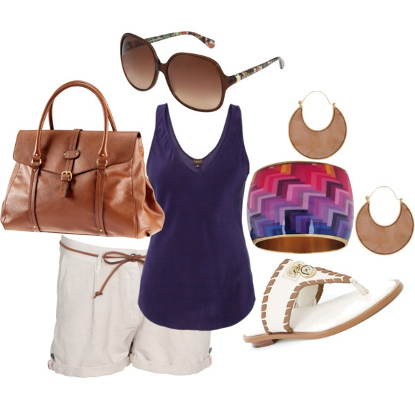 Purple and Brown Outfit, created by bloomy59 on Polyvore