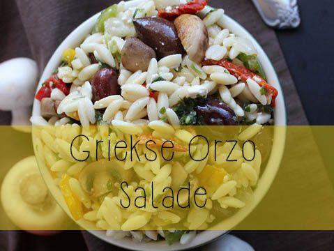 Griekse Orzo salade
