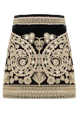 MELIE - For Love and Lemons - Ornate Paris My Love Mini skirt in velvet